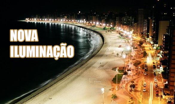 Orla de Vila Velha recebe novas luminárias
