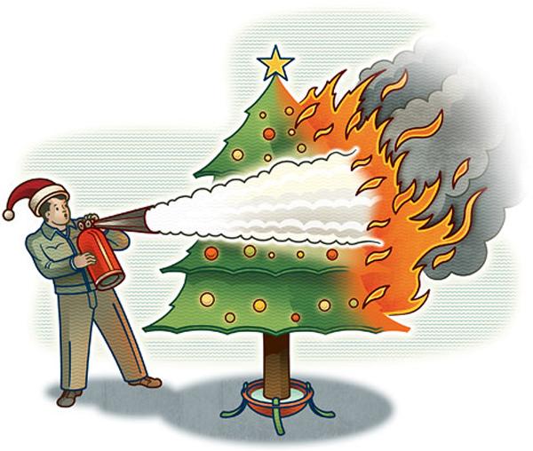 Corpo de Bombeiros alerta para cuidados com enfeites de Natal