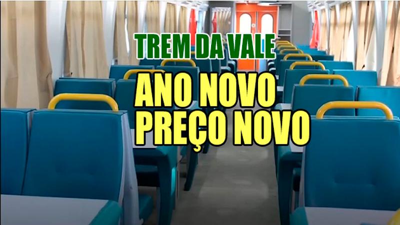 Trem da Vale: passagens aumentam de preço