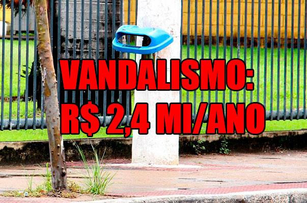 Vandalismo: Vila Velha gasta R$ 2,4 milhões por ano para recuperar danos