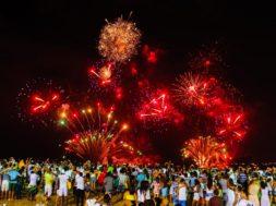 Réveillon 2016 na Praia de Camburi