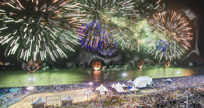 Vitória: três palcos e fogos agitam a noite do Réveillon