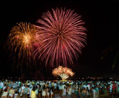 Réveillon 2017 na praia de Camburi