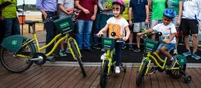 Prefeitura de Vitória instala três estações de aluguel de bicicleta para crianças