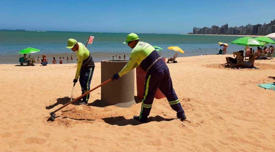 Novas lixeiras nas praias de Vila Velha